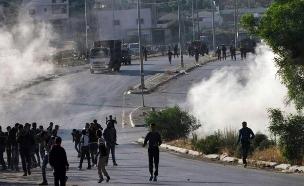 פלסטיני נהרג בעימותים בחברון (צילום: פסגת מעודכנים)