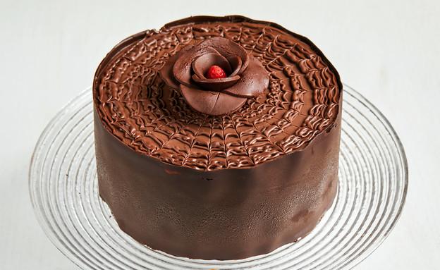 פרזייה - טורט קקאו עם שוקולד לבן, שוקולד ותותים (צילום: אמיר מנחם, אוכל טוב)