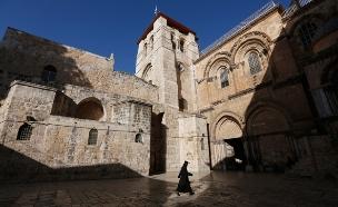 המאבק סביב כנסיית הקבר: צפו בכתבה המלאה (צילום: רויטרס)