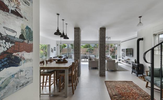 בית ברשלצ, עיצוב שלומית גליקס, פינת אוכל (צילום: עודד סמדר)