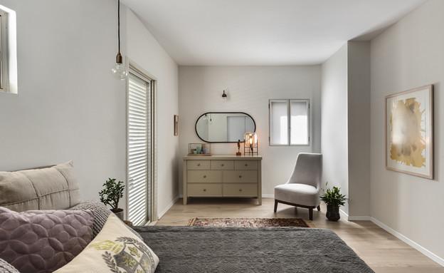 בית ברשלצ, עיצוב שלומית גליקס, חדר שינה (צילום: עודד סמדר)