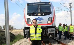 ישראל כץ בהשקת תוואי הרכבת מתל אביב לירושלים (ינוא (צילום: צילום: דוברות משרד התחבורה)