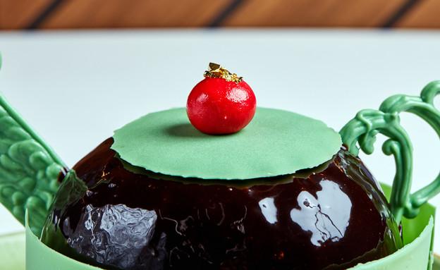 עוגת מוס שוקולד-הל עם פטל וקפה (צילום: אמיר מנחם, אוכל טוב)