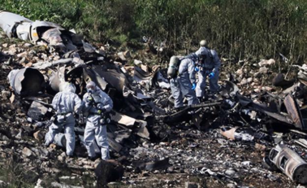 הפלת מטוס ה-F-16 בצפון (צילום: רויטרס)