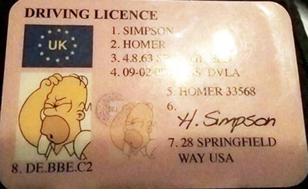 רישיון הנהגיה של הנהג שנתפס (צילום: sky news)