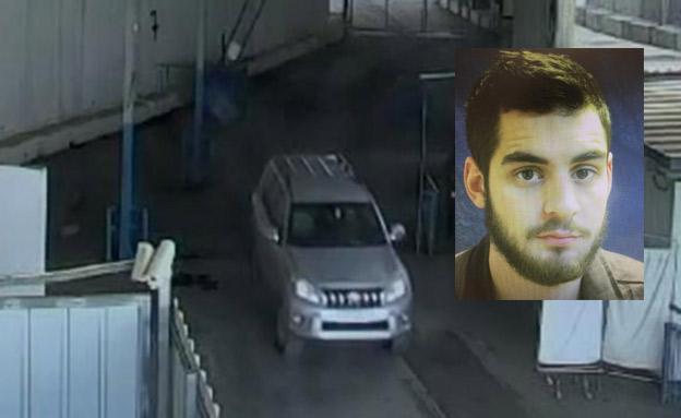 """החשוד, והרכב שבו הוברח האמל""""ח (צילום: תקשורת השב""""כ)"""