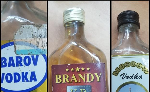בקבוקי אלכוהול מזויפים