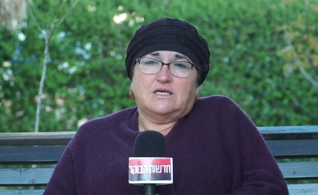 """יעל קולמן על בנה עדיאל ז""""ל (צילום: מתוך """"חדשות הבוקר"""" , קשת 12)"""
