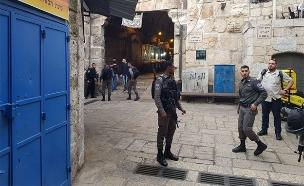 זירת הפיגוע ברח' הגיא בירושלים (צילום: TPS)