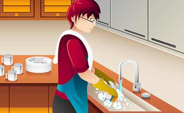 ניקיונות פסח, מדיח כלים (איור: By Dafna A.meron)