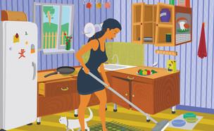 ניקיונות פסח, מנקה במטבח (איור: By Dafna A.meron)