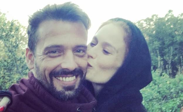 לוסי דובינצ'יק ובן הזוג, מרץ 2018 (צילום: אינסטגרם, צילום מסך)