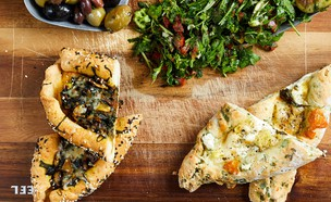 מאפים ללא גלוטן במילוי גבינה ופטריות (צילום: אמיר מנחם, אוכל טוב)