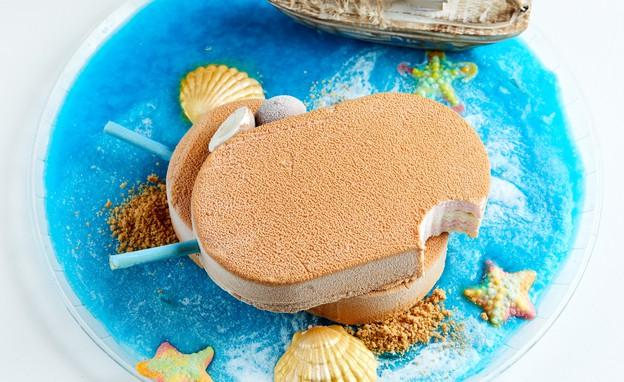 עוגת ארטיק קוקוס ומסטיק (צילום: אמיר מנחם, אוכל טוב)