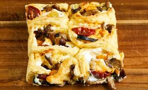 שושני בריוש מלוחים ללא גלוטן עם גבינה וירקות (צילום: אמיר מנחם, אוכל טוב)