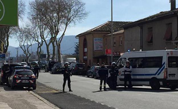 חשד לפיגוע טרור בדרום צרפת (צילום: חדשות 2)