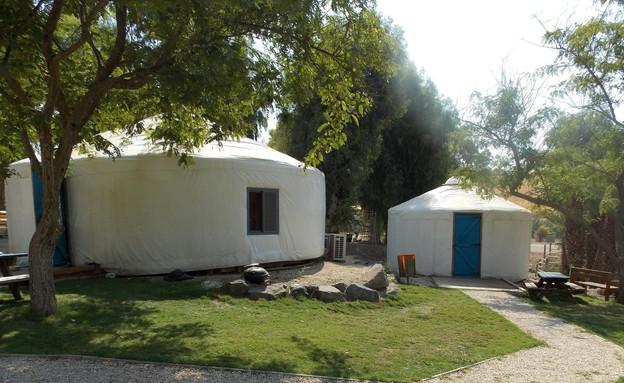 אוהל יורט ממוזג גני חוגה (צילום: יחצ)