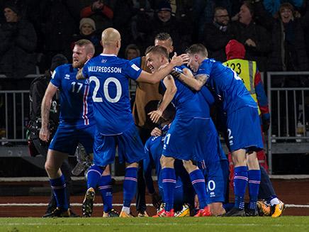נבחרת איסלנד (ארכיון) (צילום: רויטרס)