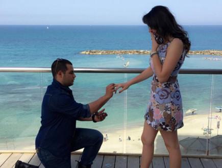 להצעת נישואין (צילום: מתוך פייסבוק)
