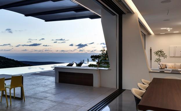 בית בצפון, תכנון אריאל פרנקו, גג (צילום: עודד סמדר)