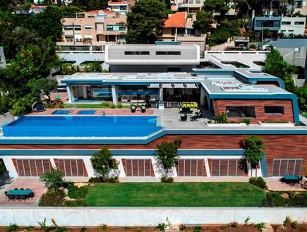 בית בצפון, תכנון אריאל פרנקו, צילום מלמעלה (צילום: עודד סמדר)