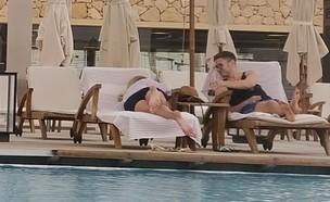 יאיר נתניהו ובת הזוג מבלים במלון (צילום: mako)