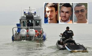 שלושת הצעירים שטבעו בשנה שעברה (צילום: תמונת החיפושים: דוברות המשטרה)