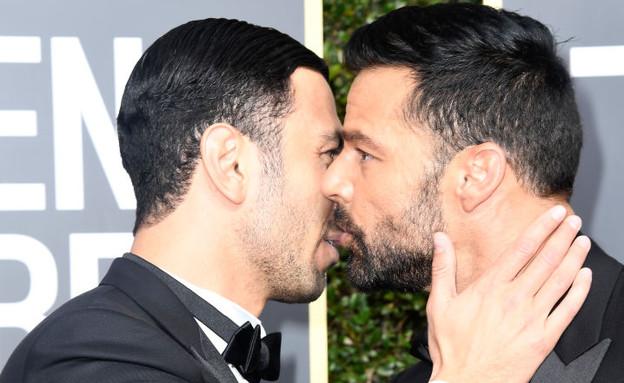 ריקי מרטין וחואן יוסף (צילום: Frazer Harrison, Getty Images)