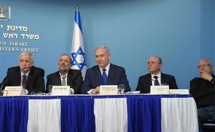 """מסיבת העיתונאים, שלשום (צילום: עמוס בן גרשום / לע""""מ)"""