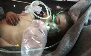 תינוק פגוע באחת התקיפות (צילום: מתוך הטוויטר)