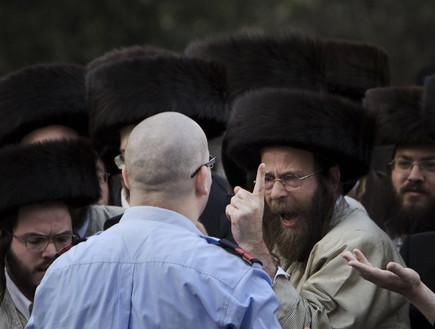 הפגנת חרדים בירושלים (צילום: Sakchai Lalit | AP)