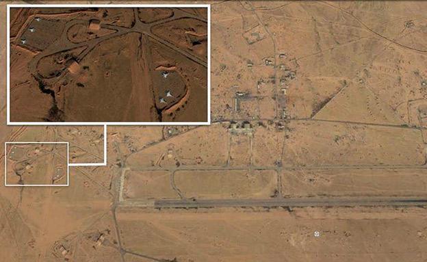 שדה התעופה הצבאי T4 (צילום: צילום לווין של google earth)