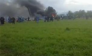 אלג'יריה: כ-100 הרוגים בהתרסקות (צילום: הטלוויזיה האלגיראית)