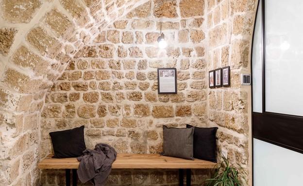בית אבן, עיצוב מיכל מטלון, פטיו (צילום: אורית ארנון)