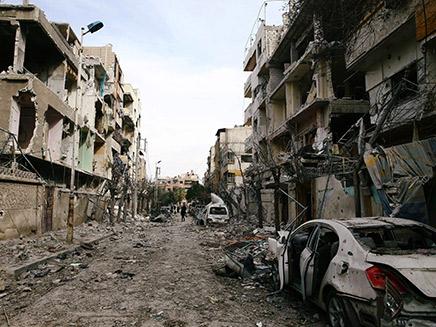 העיר ע'וטה שבסוריה אחרי הפצצות אסד