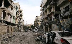 העיר ע'וטה שבסוריה אחרי הפצצות אסד (צילום: רויטרס)