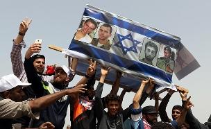הפגנות בגבול רצועת עזה (צילום: רויטרס)