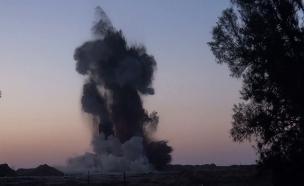 """פיצוץ מנהרה בעוטף (צילום: דובר צה""""ל)"""