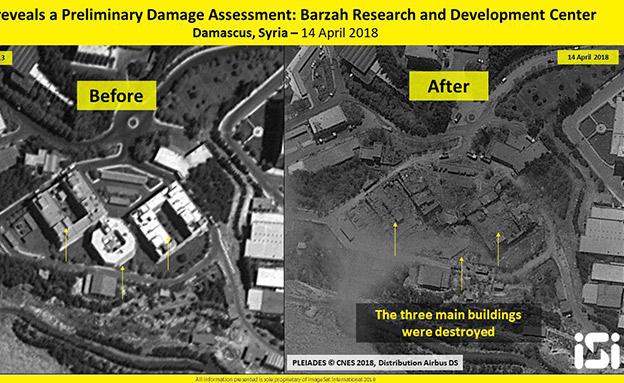 תמונות לוויין של המטרות שהותקפו (צילום: ImageSat International (ISI))