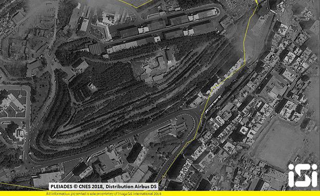 המתקפה על סוריה (צילום: ImageSat International (ISI))