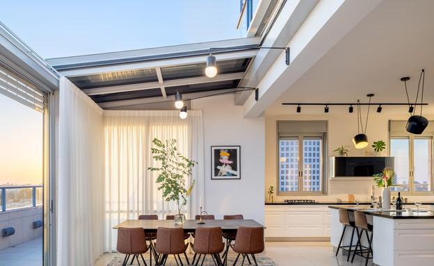 דירה בגבעתיים, עיצוב סטודיו LOROS TLV, פינת אוכל (צילום: יואב פלד Peled Studios)