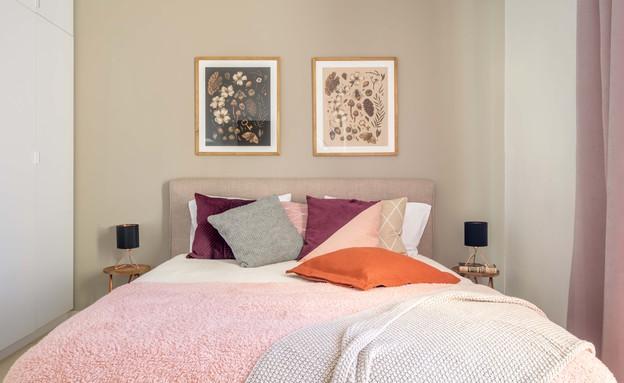 דירה בגבעתיים, עיצוב סטודיו LOROS TLV, חדר שינה (צילום: יואב פלד Peled Studios)
