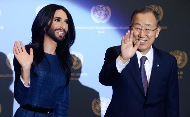 """לצד מזכ""""ל האו""""ם לשעבר, באן קי מון (צילום: רויטרס)"""