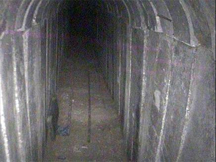 המנהרה שנחשפה אתמול