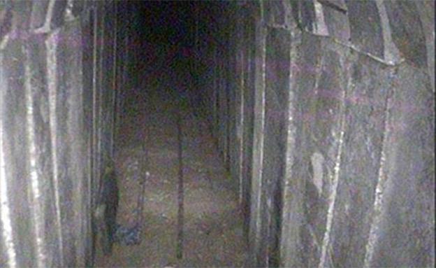 המנהרה שנחשפה אתמול (צילום: דובר צהל)