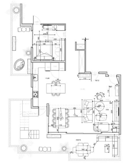 דירה בגבעתיים, עיצוב סטודיו LOROS TLV, שרטוט (שרטוט: סטודיו LOROS TLV)