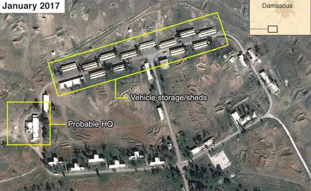 בסיס אירני בסוריה (צילום: איירבאס, מקנזי שירותי מודיעין)