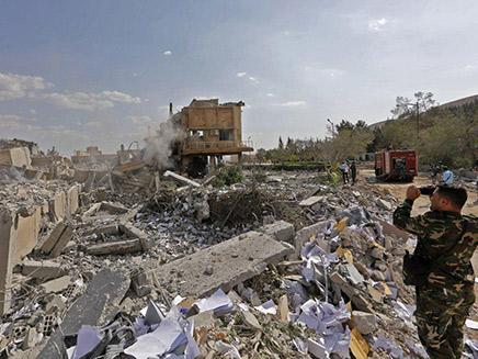 אחד מיעדי התקיפה בסוריה (צילום: Sky News)