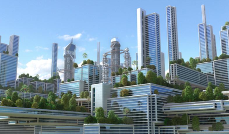 הדמיה של עיר בעתיד (צילום: שאטרסטוק)