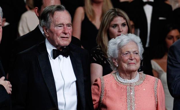 ברברה וג'ורג' בוש (צילום: רויטרס)